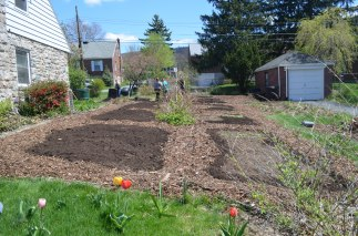 Garden prepped in April  for the 2015 Season